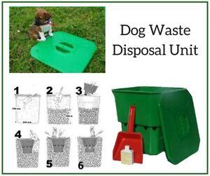 Outside Dog Waste Disposal Unit