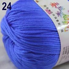 Sale New 1Ball x 50g Cashmere Silk Wool Hand Knit Wrap Shawls Crochet Yarn 24