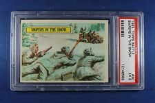 1965 Topps Battle Cards - #20 Snipers In The Snow - PSA Ex 5