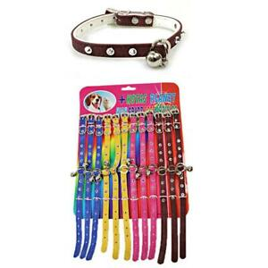 PACK OF 12 DOG CAT PUPPY COLLAR  WITH BELL KITTEN COLLAR ADJUSTABLE SMALL ANIMAL