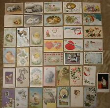 Lot of 40 Postcards - Holiday - Easter - Christmas - Valentine - Other
