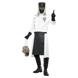 Mad Scientist Costume Adult Scary Doctor Halloween Fancy Dress