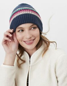 Joules Womens Vinnie Beanie Knitted Hat - French Navy - One Size