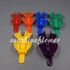 12 Pcs Autoclavable Dental Impression Tray Plastic L/M/S Adult/Child 6 Sizes