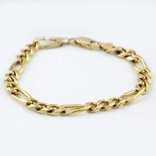 Solid 9ct. Gold Figaro Bracelet with parrot beak catch - 21cm length.