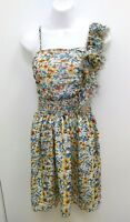 Poetry Clothing Womens Small Dress Floral Multicolored Spaghetti Straps B204