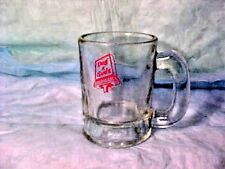 OLDER   Dog 'n Suds   HEAVY GLASS HANDLED Baby root beer stein mug with red Logo