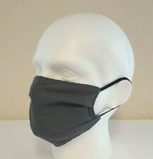 Face Mask Pleated, Pewter (single) Reusable/Washable, Dual Layered, Made in UK!