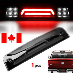 1X 8LED Smoke 3rd Third Brake Cargo Light Fit 2009-2018 Dodge RAM 1500 2500 3500