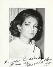 MARIA CALLAS Original Vintage HANDSIGNED Photograph 1968 ONE OF A KIND!