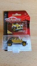 MAJORETTE 212052010-Vintage Cars-Citroen 2cv-Jaune/Noir-Neuf