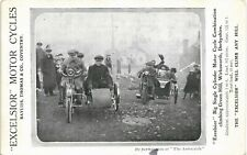 More details for advertising. excelsior motor cycles by bayliss, thomas, coventry. wirksworth.