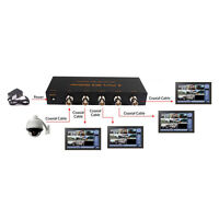 New SDI 1x4 Splitter Distribution Extender Repeater SDI HD-SDI 3G-SDI 1080P