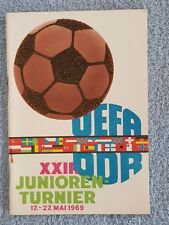 1969 - EUROPEAN UNDER 18 CHAMPIONSHIPS PROGRAMME - HELD IN EAST GERMANY