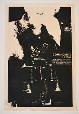 1976 Cuban Original Silkscreen Movie Poster.Comandante Huban.Polish art cinema