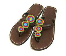 Aspiga Beaded Leather Sandals Women's Size 41, Size 10