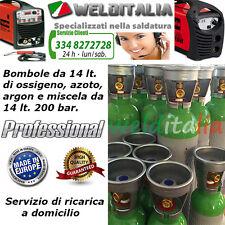 BOMBOLA RICARICABILE 14 LT. 200 BAR ARGON PER SALDATRICE A FILO E TIG EUROPEA