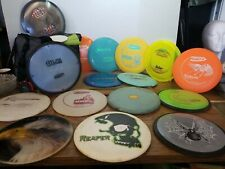 golf disc lot of 17 with innova carrying bag marker bag prodigy vibram claymore
