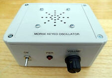 Morse Code Oscillator, for straight keys - ready built. Made in Dorset UK.