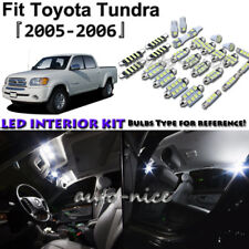 10x White LED Interior Lights Package Kit For 2005 2006 Toyota Tundra