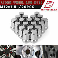 Set of 20 7//16-20 bulge acorn chrome lug nuts for 17 YEARONE Snowflake wheels.