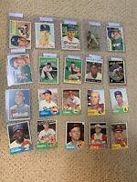 Lot of 20 1950 1960s TOPPS BOWMAN baseball cards ALL G-VGEX+