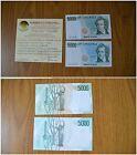 BANCONOTA LIRE 5000 BELLINI 1996 VARIANTE COLORE RARA certificata FDS SUBALPINA
