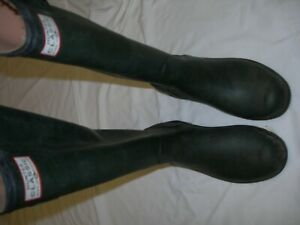 Hunter Wellington Boots Womens Size 6----39 Green Excellent Condition