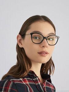 Brand New Prada Authentic Women Eyeglasses Frame PR 11VV 1AB-1O1 Italy Rx Case S