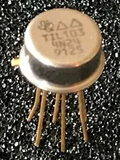 TIL103 4N24 TEXAS INST.  OPTO COUPLER 6 PIN TO5 METAL CAN PACKAGE  (x1) fcb27.34