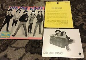 DEE DEE KING RAMONES Standing In The Spotlight 1989 Sire LP/RARE PRESS KIT PHOTO