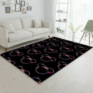 Minnie Mouse Black And Colorful Movie Area Rug, Kitchen Rug