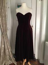 Ladies Twilight Velvet strapless Maroon/wine coloured size 12 EX CON