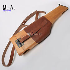 WW2 WWII GERMAN MAUSER WOODEN HOLSTER C96 PISTOL CUOIO BROOMHANDLE