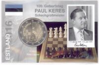 2 Euro Coincard / Infokarte Estland 2016 Paul Keres