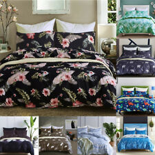 Print Floral Oriental Comforter Duvet Quilt Cover Bedding Set Twin/Queen/King