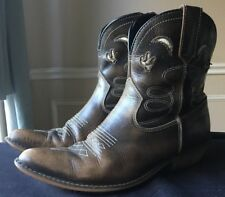 Dingo Adobe Rose Zip Zipper Boots Size 7 M