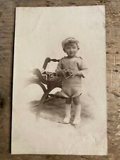 More details for real photo postcard.   boy with building blocks.     ref560