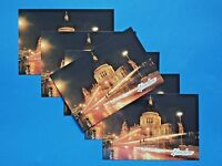 Pack of 6 NEW High Quality Glossy London Postcard St Paul's Cathedral at Night