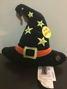 """DanDee Light Up HALLOWEEN Witch Hat Toy Plush 14"""" New RARE"""