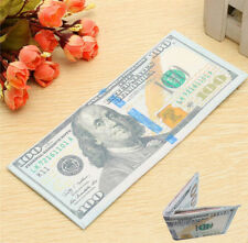 Men Hundred Dollar US Bill Bi-Fold Canvas Wallet Credit Card Holder Purse Gift