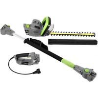 Earthwise Pole Hedge Trimmer Corded Electric 18 Inch 4.5 Amp Multi Tool Garden