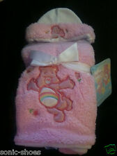 Care Bears baby cozy blanket with PINK hat and blanket new!