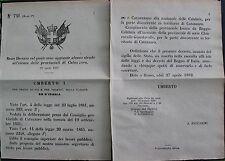REGIO DECRETO - Umberto I - Aprile 1882 - Re D'Italia - 7