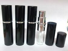Refillable Spray ATOMIZER ATOMISER (5ml) Bottle Travel Perfume Aftershave Black