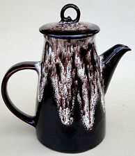 Coffee Pot Teapot Royal Canadian 4.5 cup Drip Glaze Princess 1960s Art Pottery