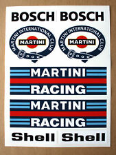 Porsche 911 Martini Club Stickers Decals Lancia Delta