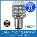 12V 36-LED BA15D 1142 WHITE GLOBE - Boat/Caravan/Auto/Anchor/Stern Light Bulb
