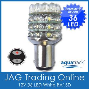 12V 36-LED BA15D 1142 WHITE GLOBE - Boat/Auto/Caravan/Anchor/Stern Light Bulb