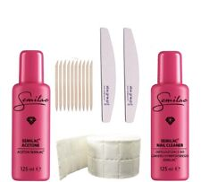 0Manicure Set SEMILAC - Nail Cleaner, Aceton, Nail File, Cotton Pads
